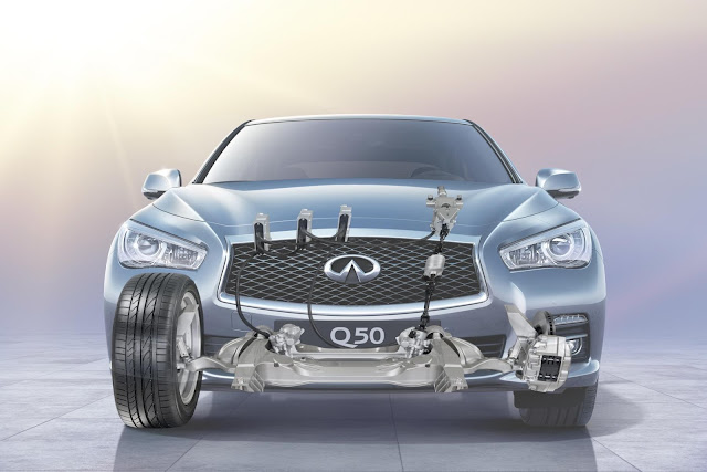 Infiniti Q50 with steer by wire technology
