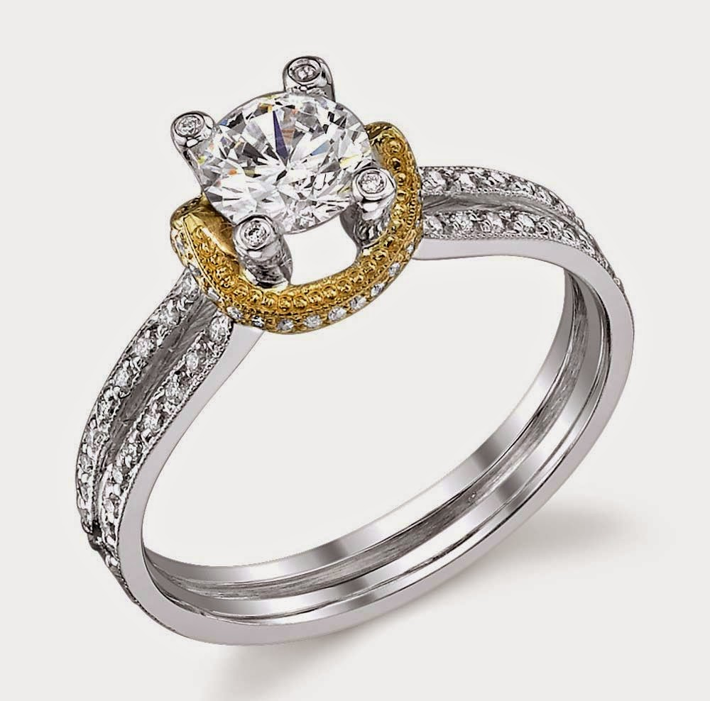 Diamond White and Yellow Wedding Rings Settings pictures hd