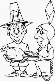 Dibujos Dia de Accion de Gracias para Colorear, parte 1