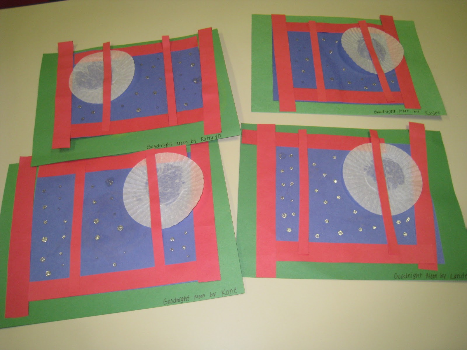Mrs russell 39 s class goodnight moon and other moon ideas for Books with art projects