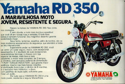 propaganda moto Yamaha RD 350 - 1973