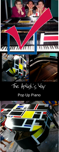 Painted a baby grand piano with great art friends