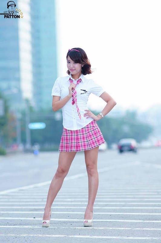Yoon Joo Ha - Pink School Girl