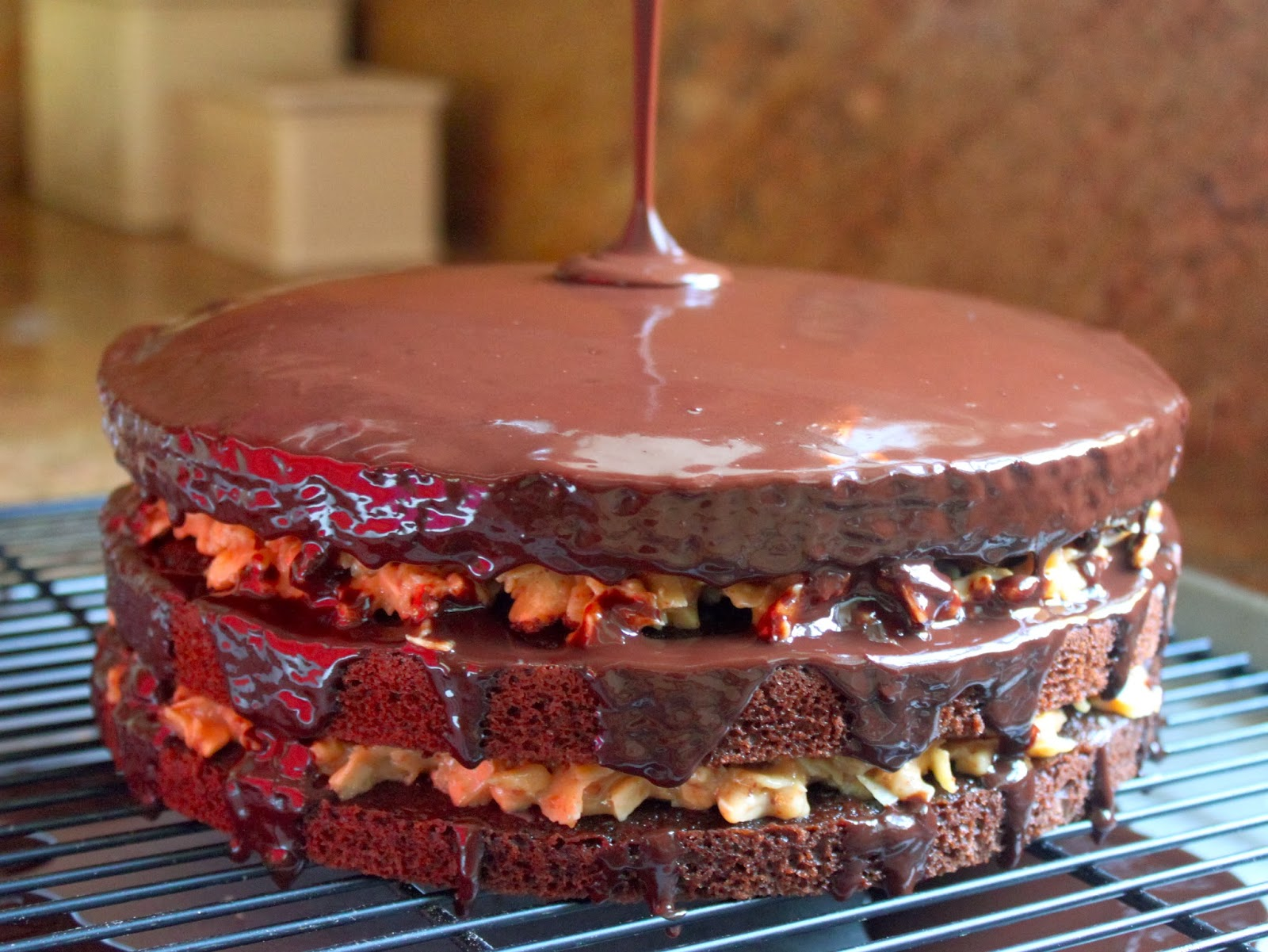 Inside-Out German Chocolate Cake