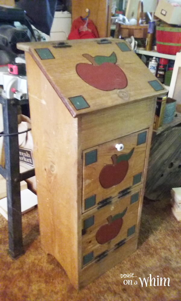 Contemporary Rustic Vegetable Bin Makeover (the before) from Denise on a Whim