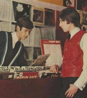 60s Pop singer Mick Rowley in red leather waistcoat