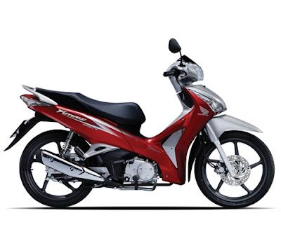 Honda Future 2012 - Đỏ Bạc Đen