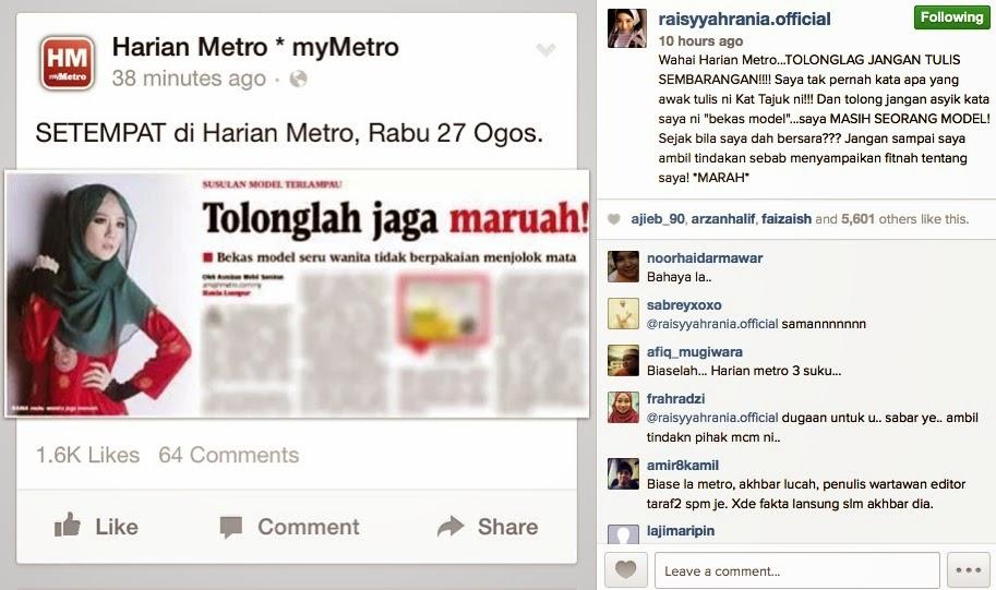 Felixia Yeap Bengang Dengan Harian Metro, info, terkini, berita, hiburan, gosip, sensasi,