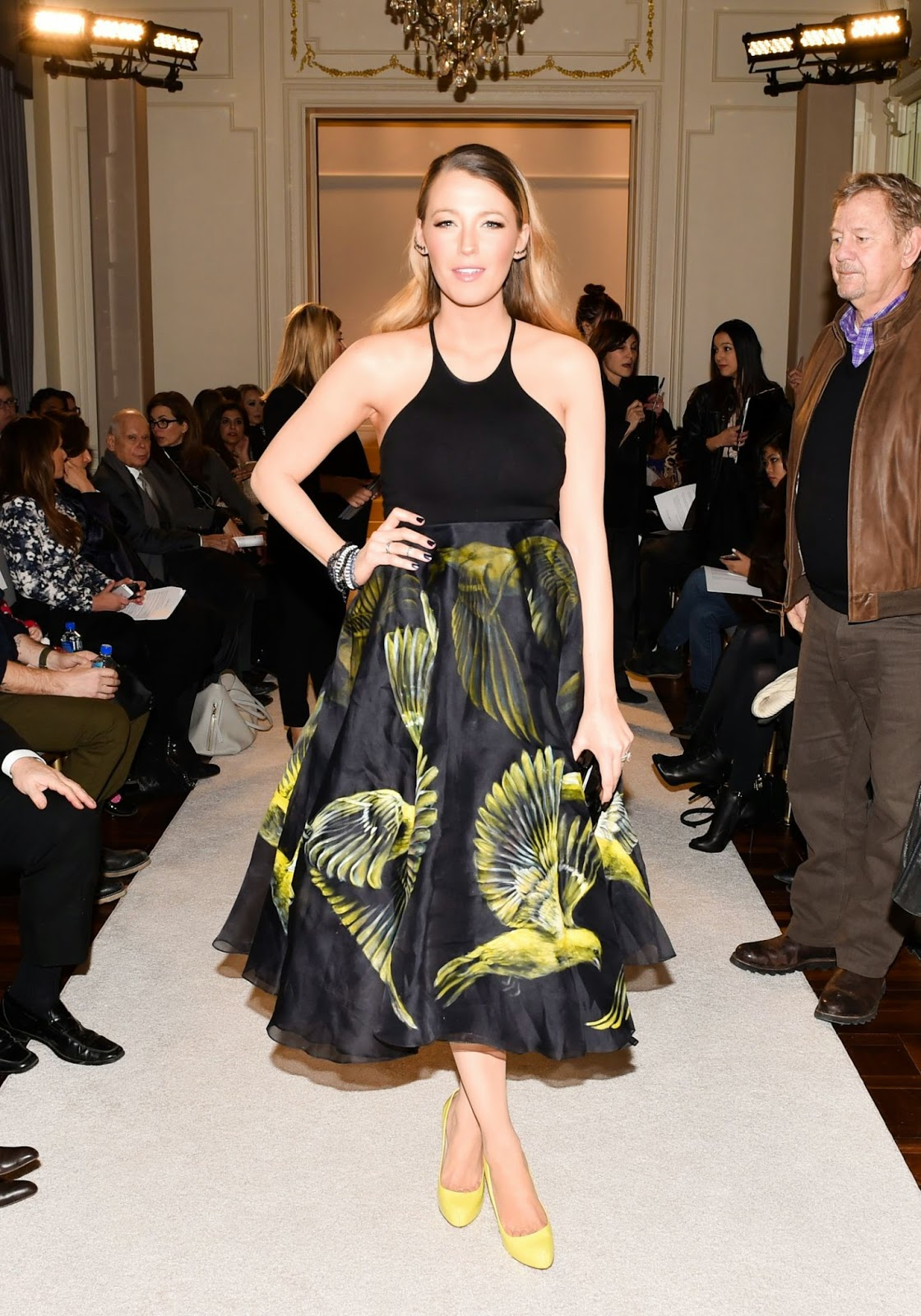Actress, Model, Celebrity: Blake Lively - Marchesa Fashion Show in NYC