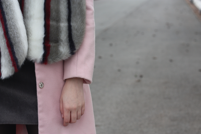 pink coat boohoo blog