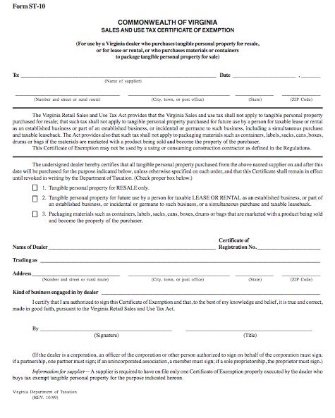 blank form 10-99