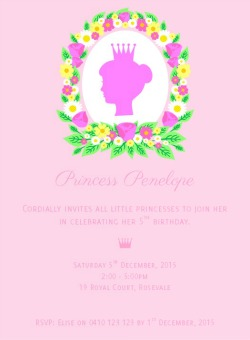 Floral Princess Invitation