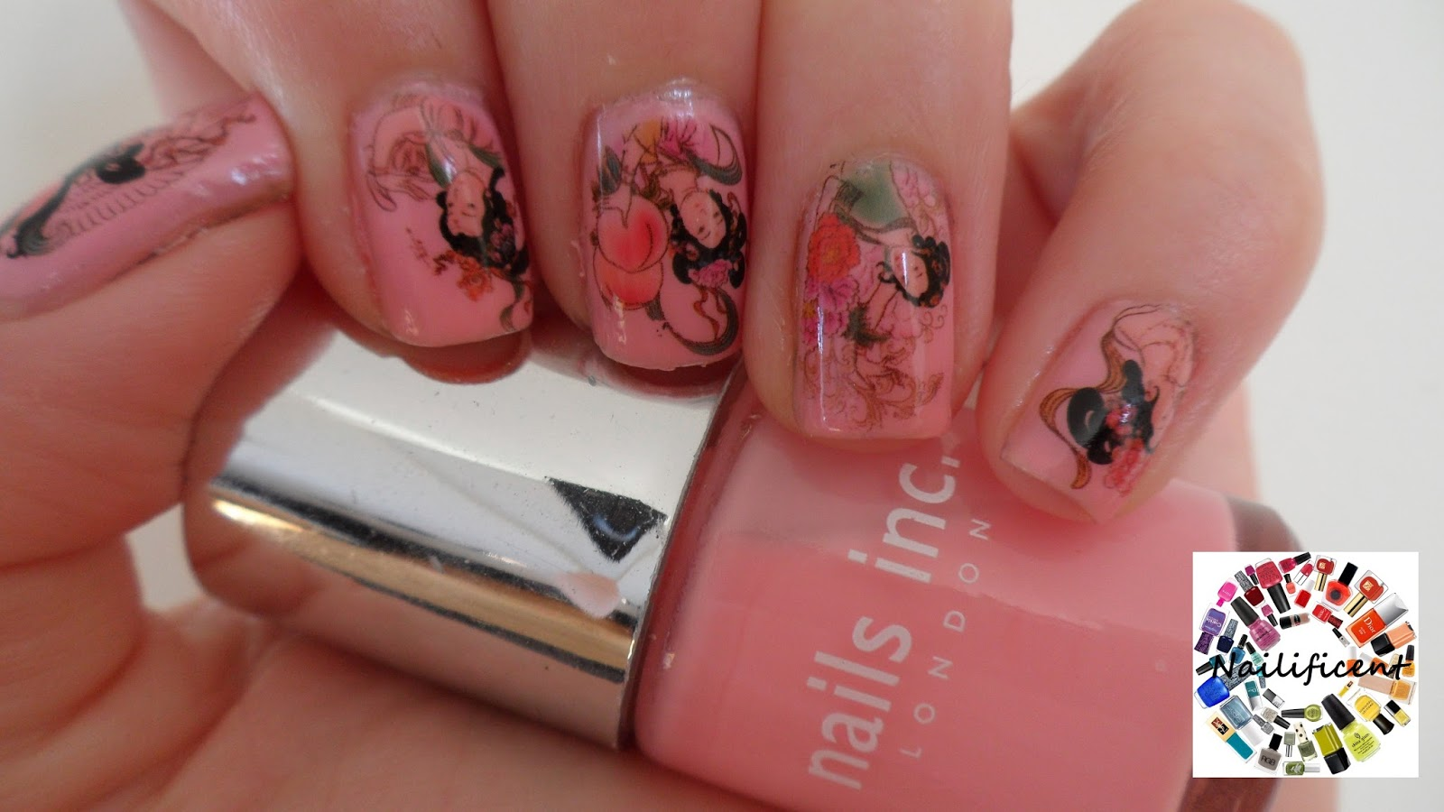 Nailificent: Geisha Girl Water Decal Nail Art