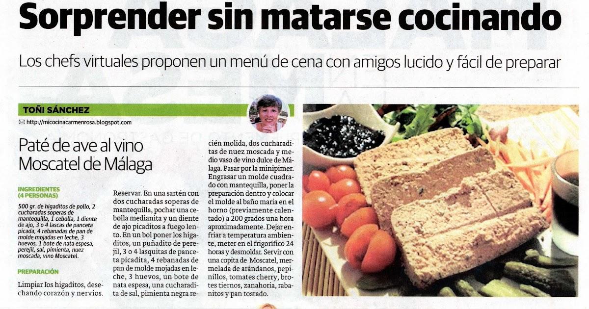 Mi cocina malaga en la mesa diario sur autora for Mi cocina malaga