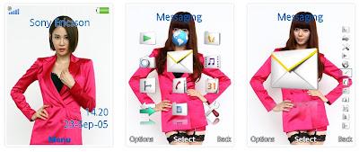 韓國組合Nine Muses SonyEricsson手機主題for Elm/Hazel/Yari/W20﹝240x320﹞