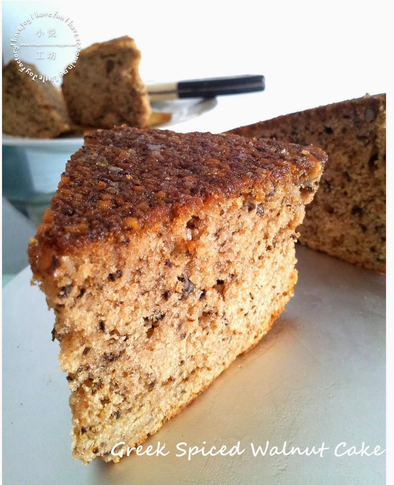 Little Joy Factory: Greek Spiced Walnut Cake - 希腊肉桂核桃蛋糕