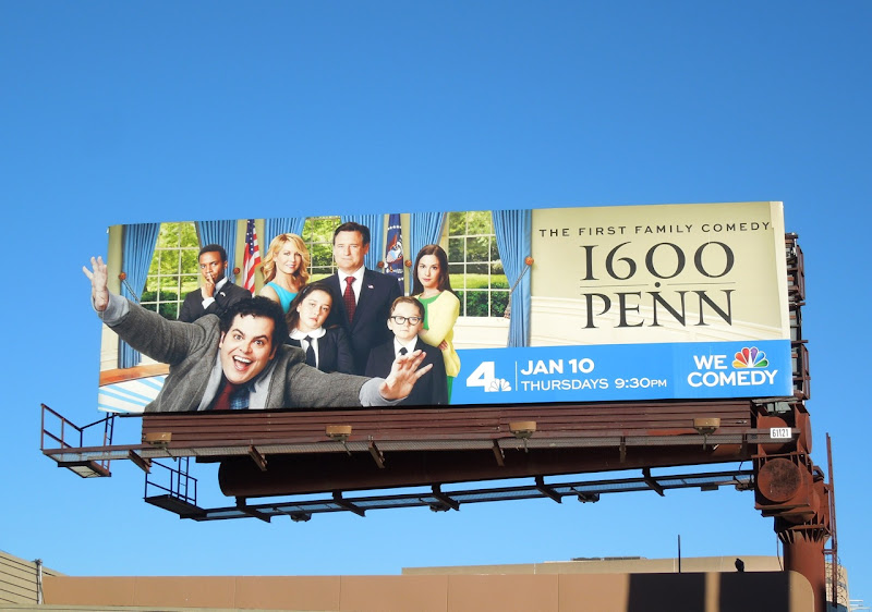 1600 Penn season 1 extension billboard