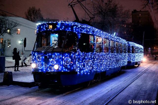 новогодний трамвай 2016