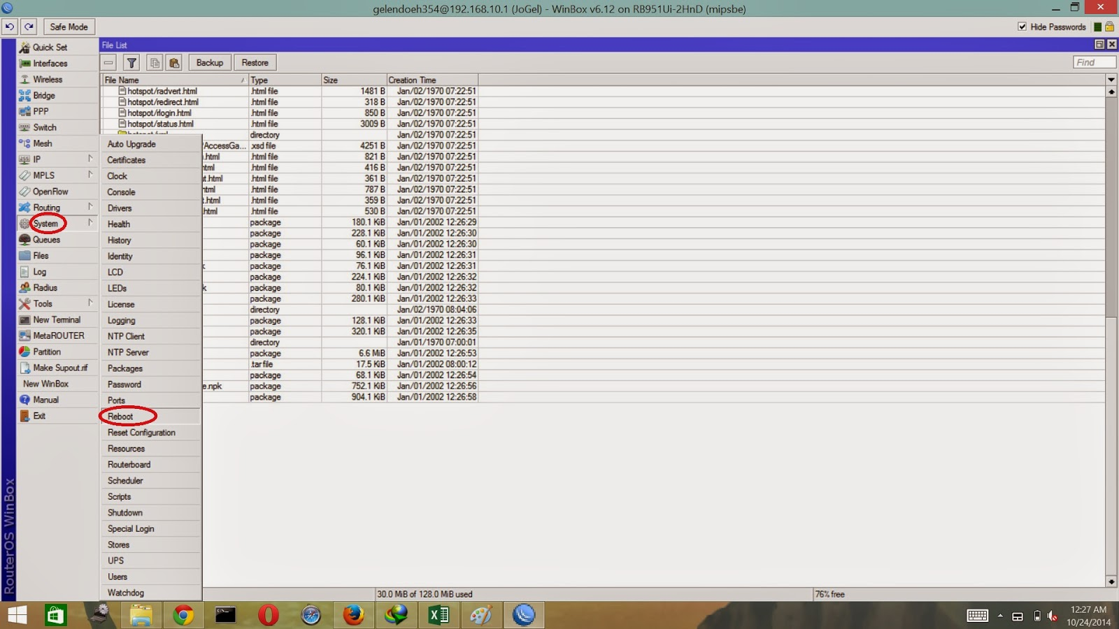 Cara Upgrade Mikrotik RouterBoard OS 6.20