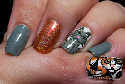 Xanthippe and Themis Cats Nail Art
