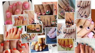 Fotos de decoraciones para las uñas de los pies