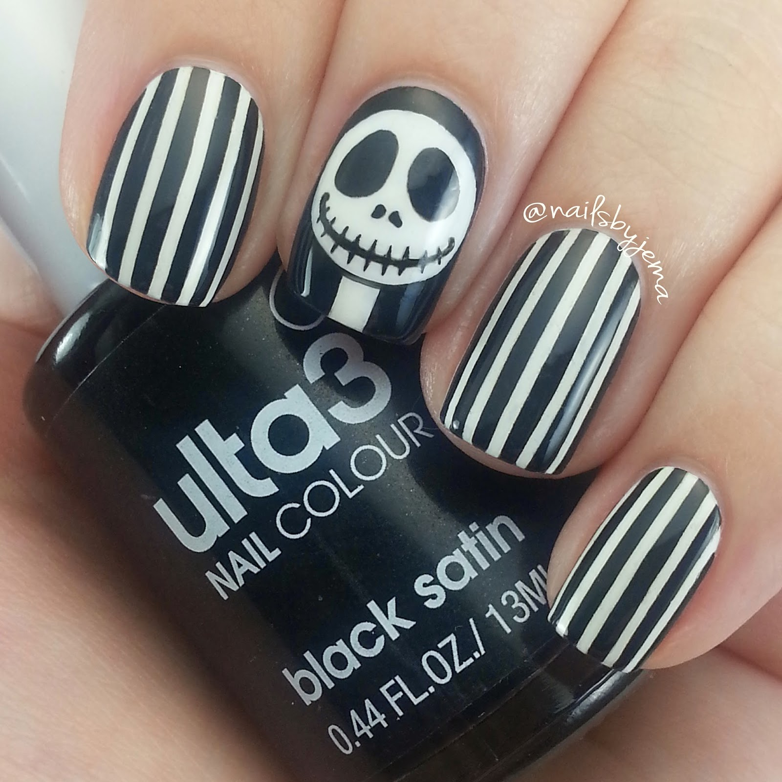 N A I L S B Y J E M A Jack Skellington Nails