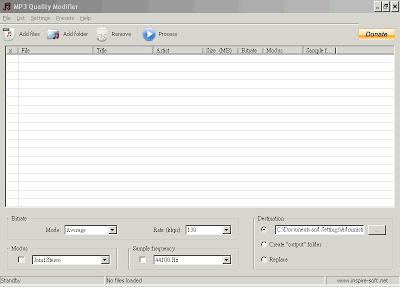 Mp3音樂歌曲檔案減肥工具,MP3 Quality Modifier V2.53 綠色免安裝版!