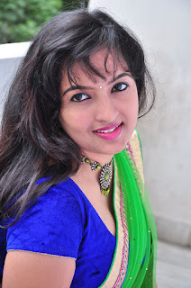 New actress Roshini half saree Picture shoot 011.jpg