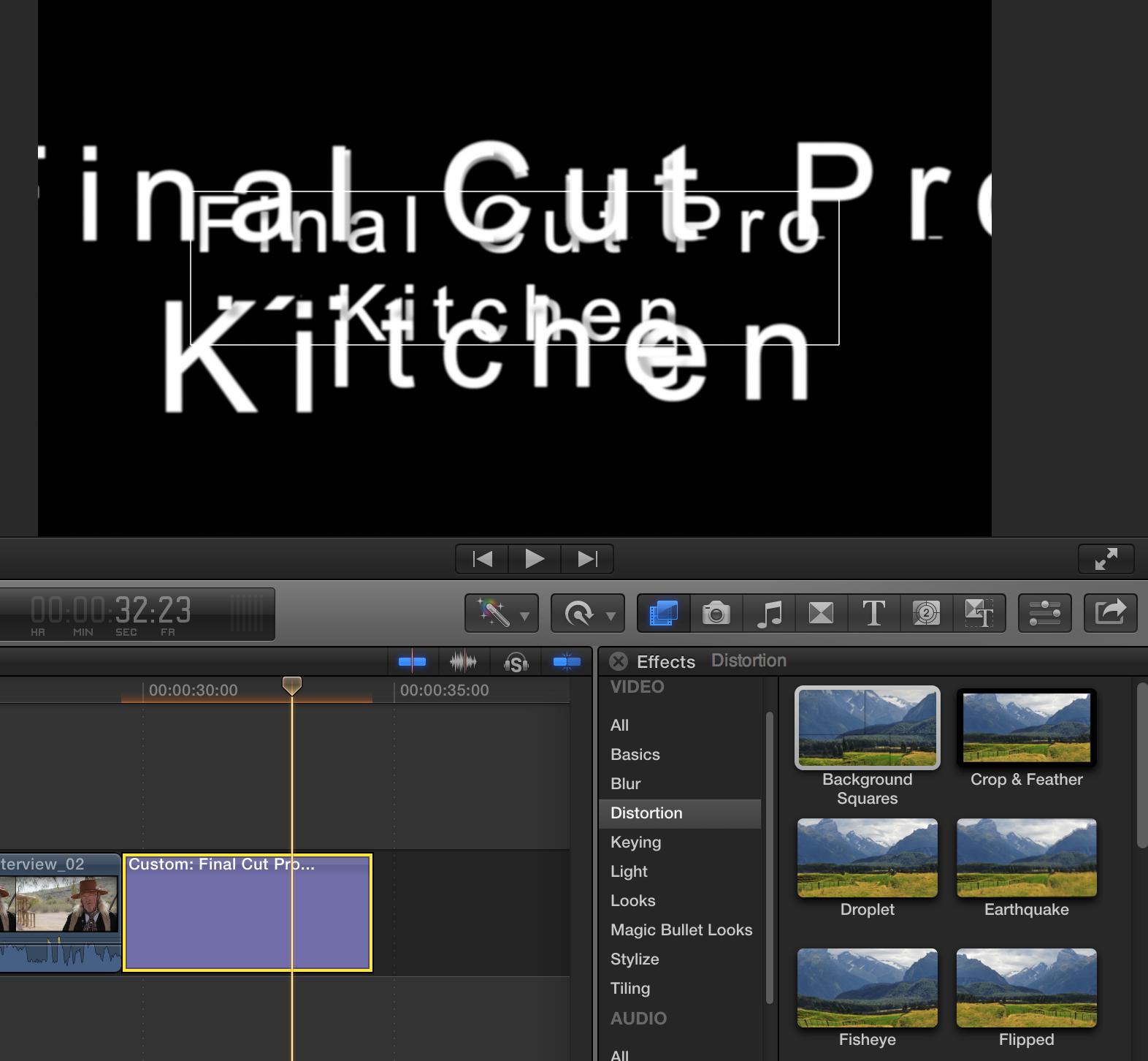 how to cut a clip in final cut pro