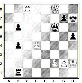 Estudio artístico de ajedrez compuesto por G. Bernhardt (1952)