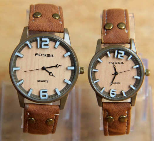 Fossil Couple Leather