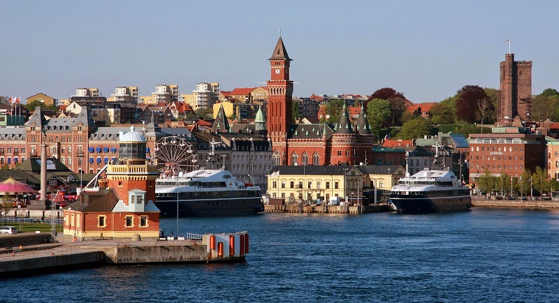 Random HD View of Helsingborg city in Sweden