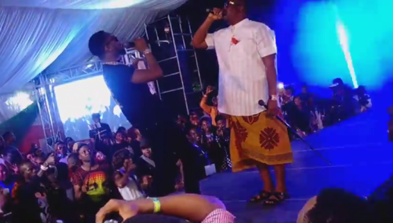 Check Out Photos & Video Of Don Jazzy And D'Banj Performing Together In Port-Harcourt