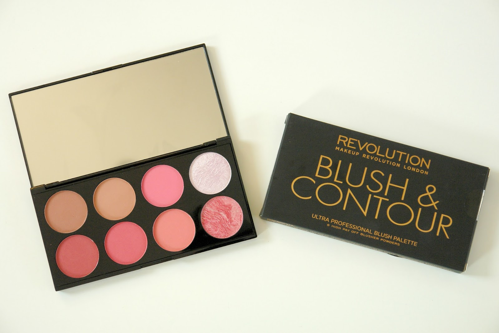 Makeup Revloution Ultra Blush and Contour Palette in Sugar and Spice review, Makeup Revolution, make up, blusher, palette, bronzer, highlighter, review, beauty, blogger