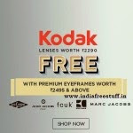 Premium Eyeglasses upto 30% off + Free KODAK Lenses worth Rs. 2290 + Rs. 50 off from Rs. 2094