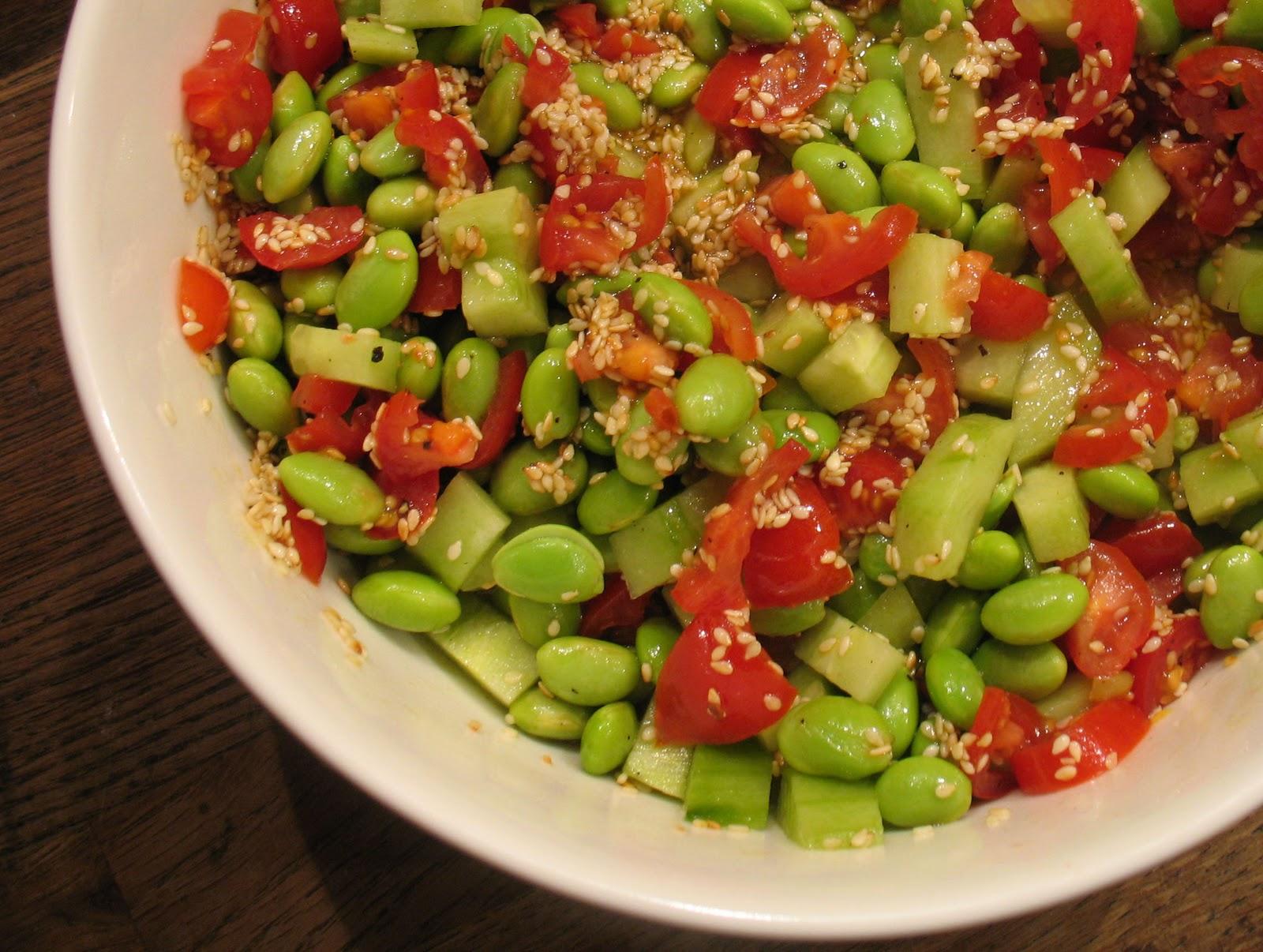 gröna bönor sallad