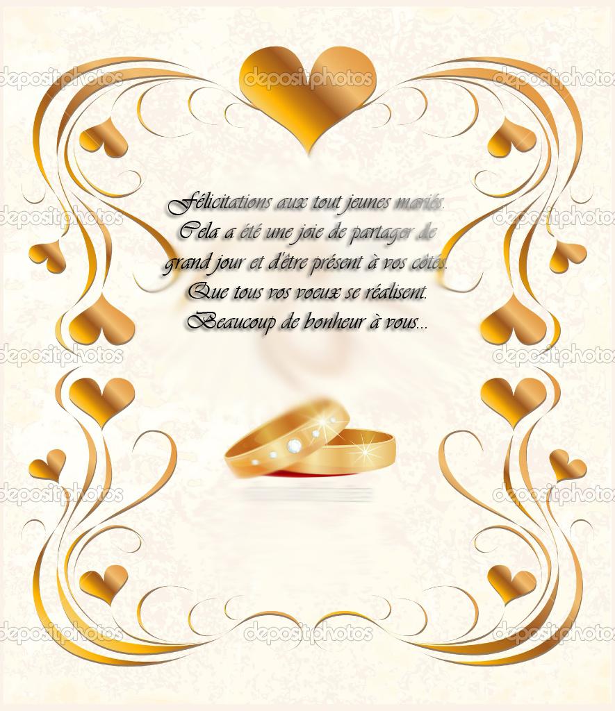Voeux de mariage invitation mariage carte mariage - Carte de voeux entreprise gratuite a imprimer ...