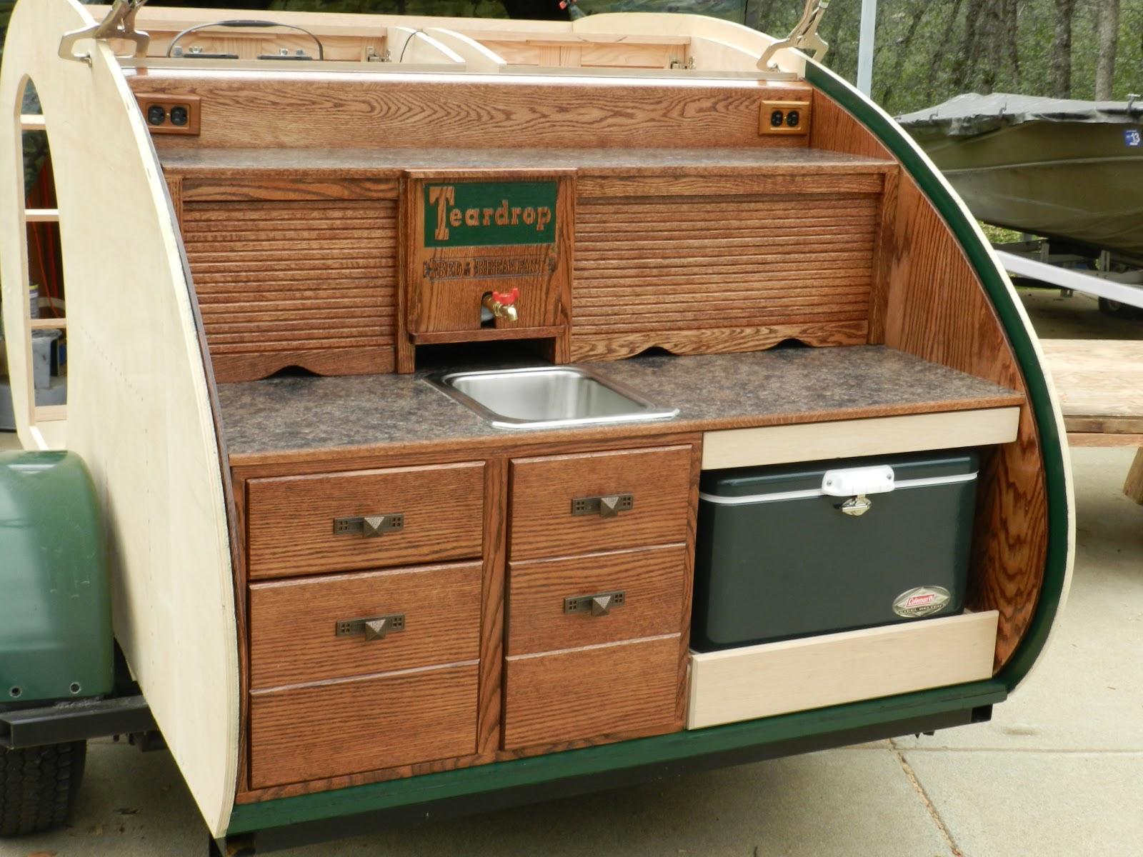 Ed 39 s teardrop trailer project trailer construction for Teardrop camper kitchen ideas