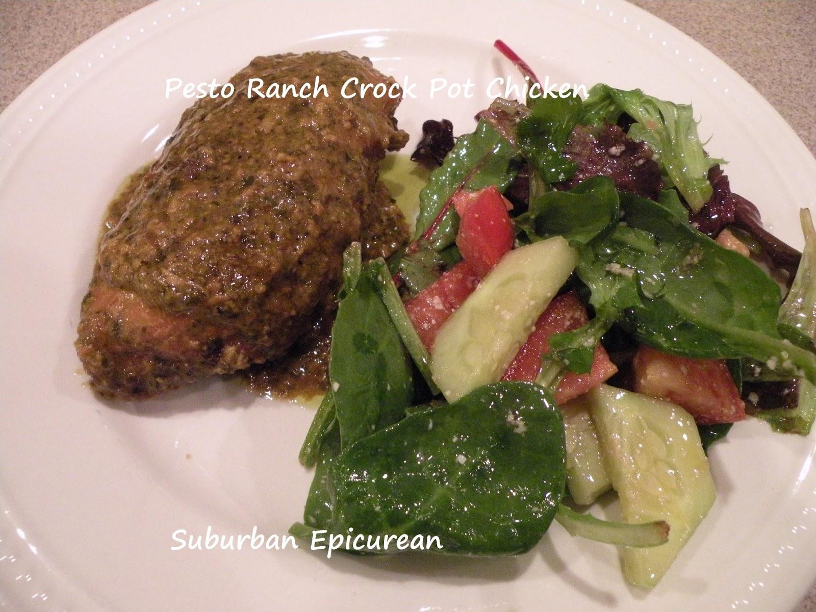 Suburban Epicurean: Pesto Ranch Crock Pot Chicken