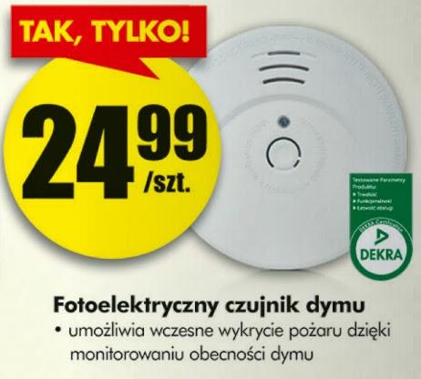 Fotoelektryczny czujnik dymu z Biedronki ulotka