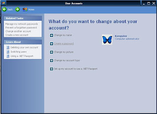 Cara Membuat Password di Komputer Windows Xp