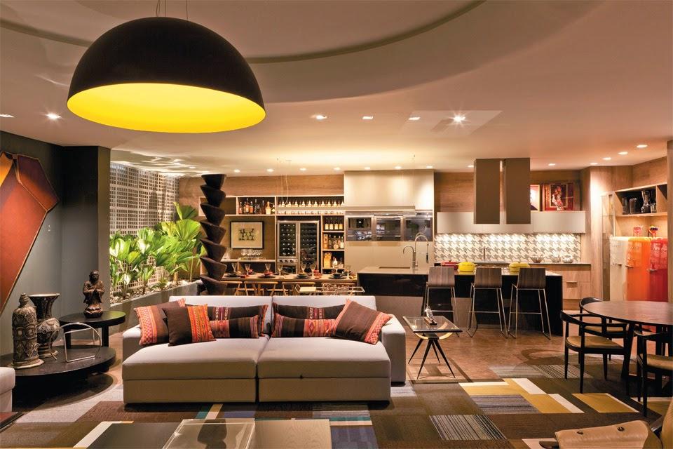 20 cozinhas integradas às salas! veja dicas e tendências de ...
