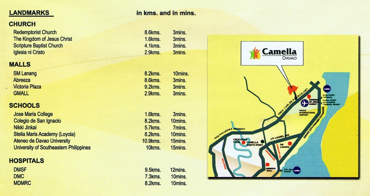 Camella Davao - Communal, Buhangin, Davao City - Vicinity map
