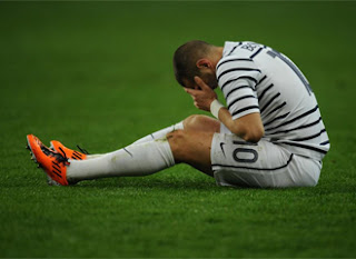 Benzema finished injured the match France vs Croatia