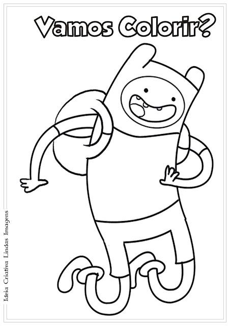 Desenho Finn Hora de Aventura para colorir
