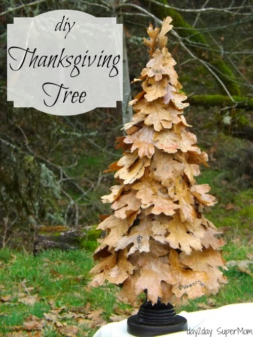 how to make a Thankful tree with real leaves