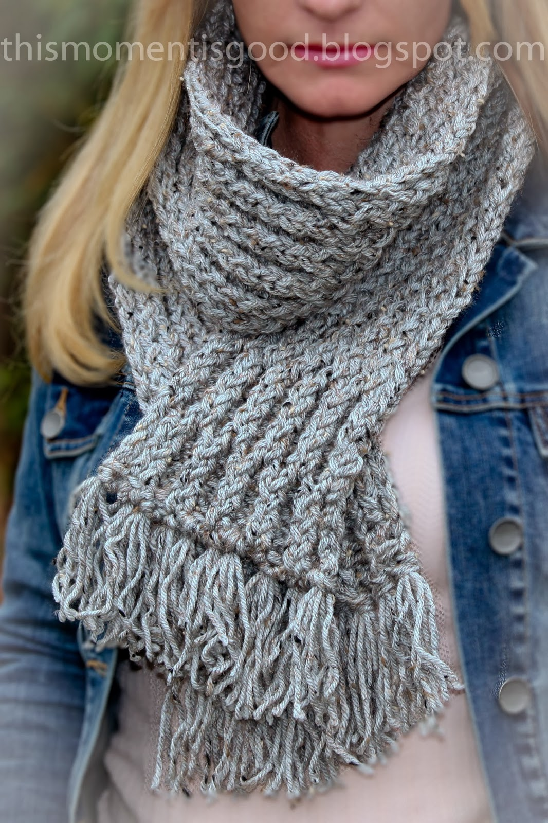 Loom Knitting by This Moment is Good!: LOOM KNIT: ELEGANT HONEYCOMB SCARF