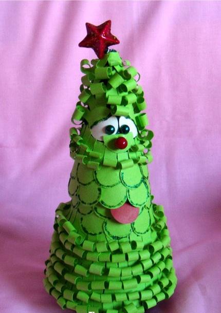 Detodomanualidades como hacer un arbol de navidad - Hacer arbol navidad ...
