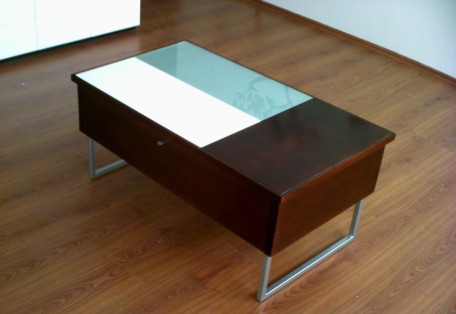Dise o de mesa de centro minimalista fabricada en mdf for Casa minimalista cristal