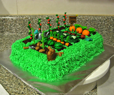 Teacher Appreciation Garden Cake - Angled View